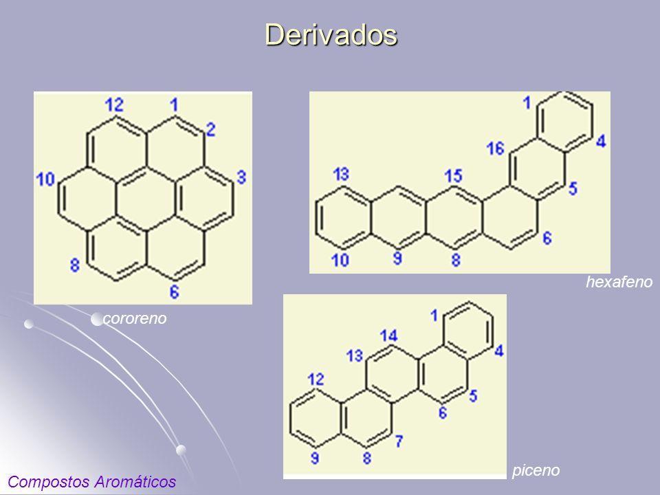 Derivados hexafeno cororeno piceno Compostos Aromáticos