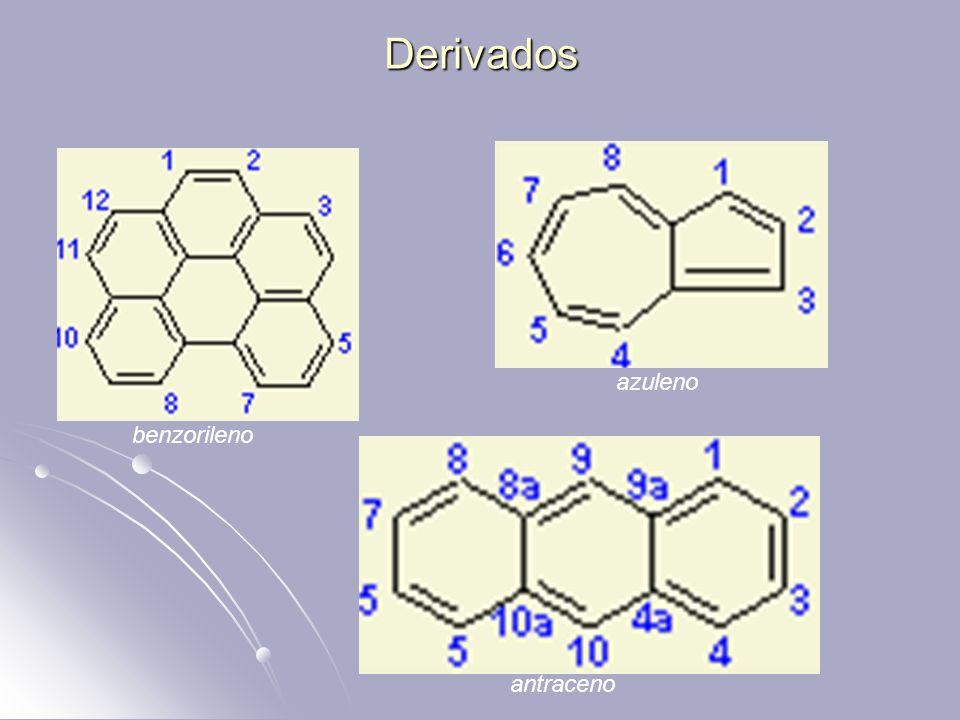Derivados azuleno benzorileno antraceno