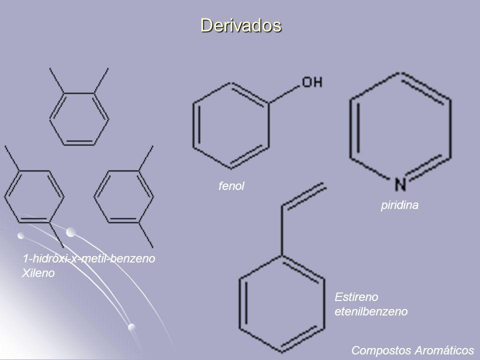 Derivados fenol piridina 1-hidróxi-x-metil-benzeno Xileno Estireno