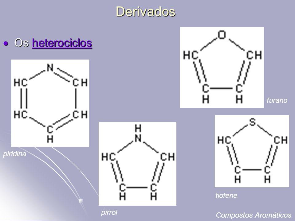 Derivados Os heterociclos furano piridina tiofene pirrol
