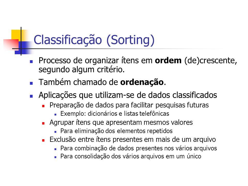 Classificação (Sorting)