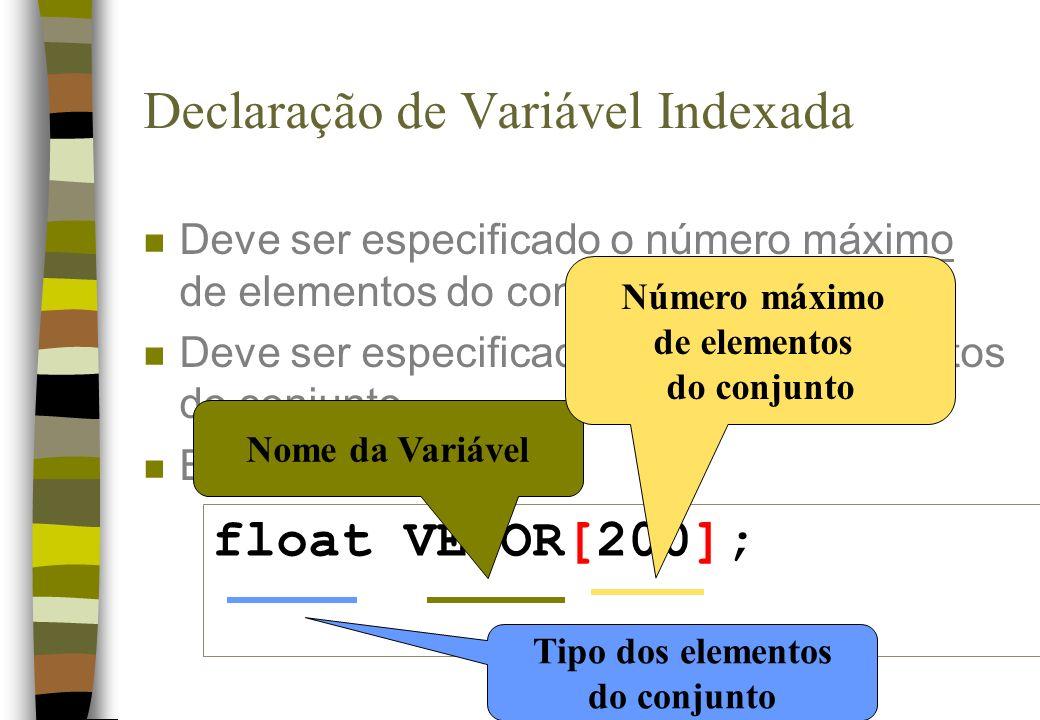 Declaração de Variável Indexada