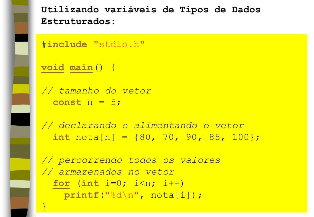 Utilizando variáveis de Tipos de Dados