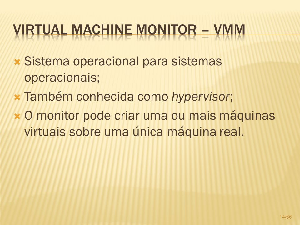 Virtual Machine Monitor – VMM