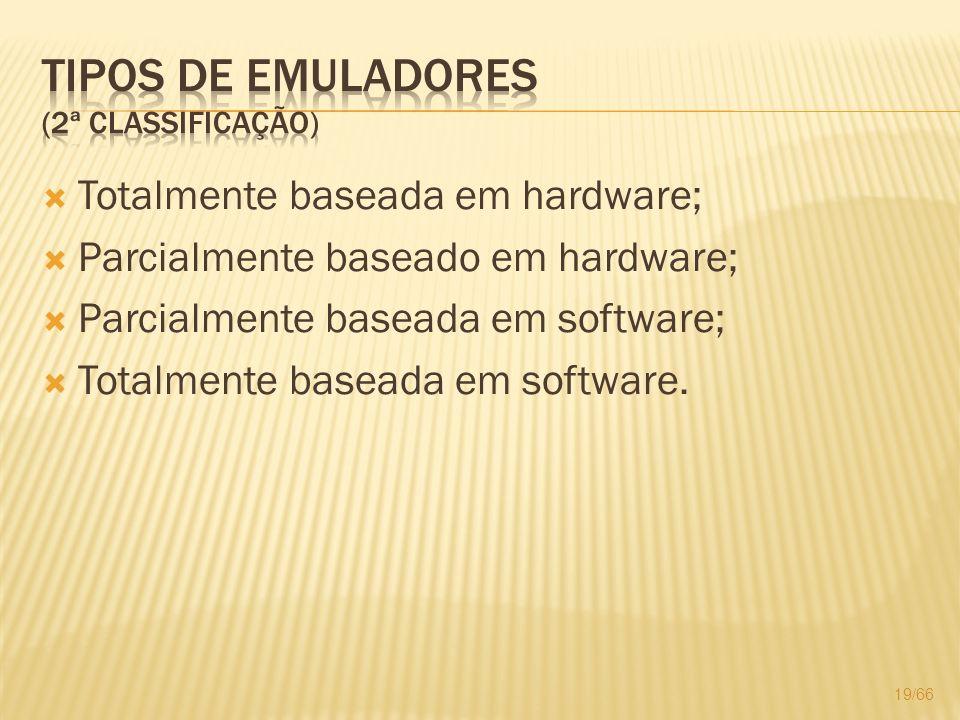 Tipos de Emuladores (2ª classificação)