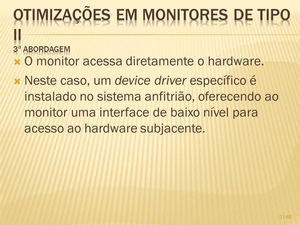 Otimizações em monitores de Tipo II 3ª Abordagem