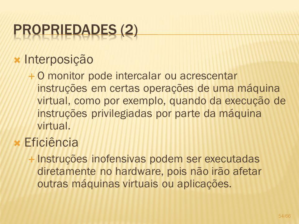 Propriedades (2) Interposição Eficiência