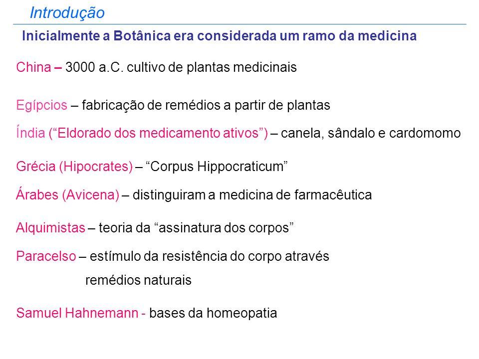 Introdução Inicialmente a Botânica era considerada um ramo da medicina