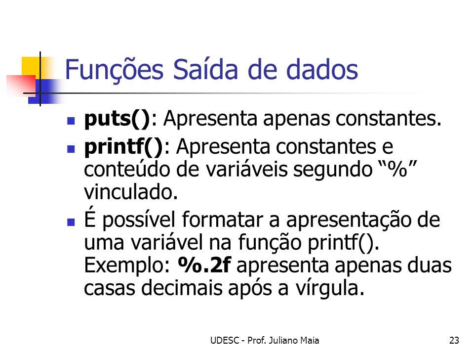 UDESC - Prof. Juliano Maia