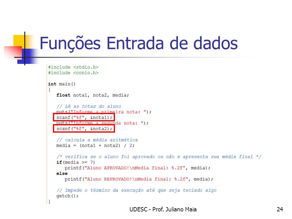 Funções Entrada de dados