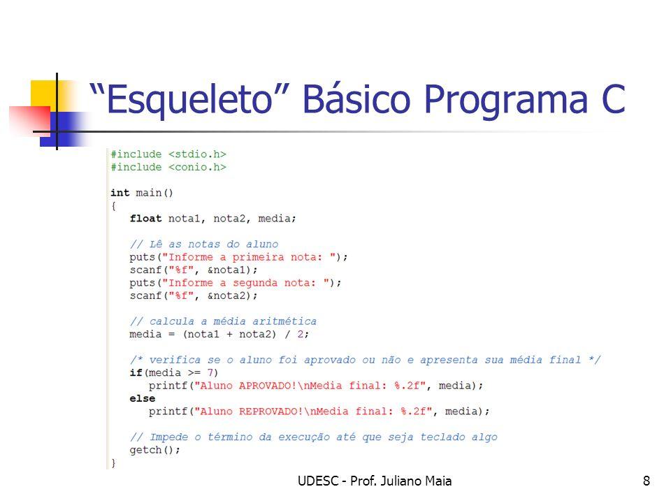 Esqueleto Básico Programa C