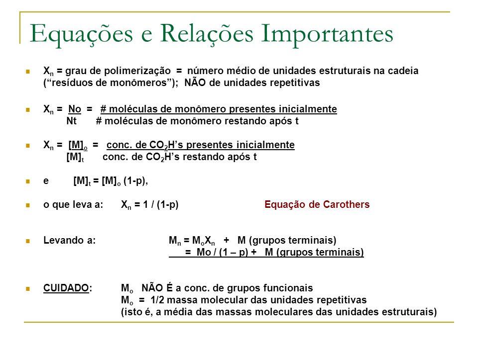Equações e Relações Importantes