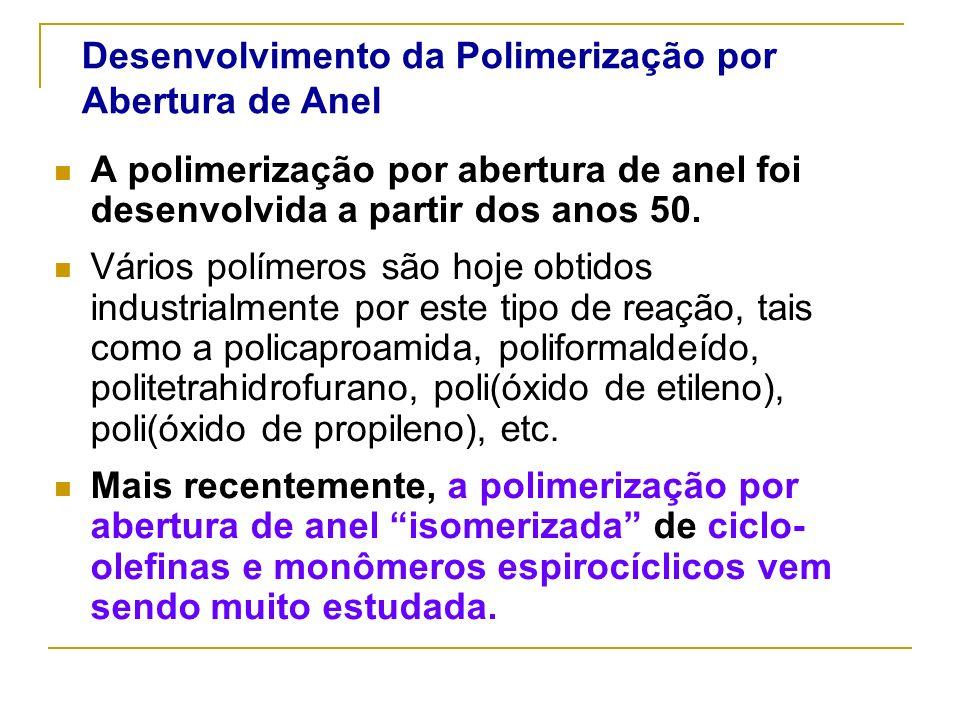 Desenvolvimento da Polimerização por Abertura de Anel