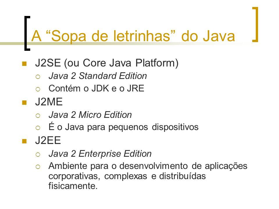 A Sopa de letrinhas do Java