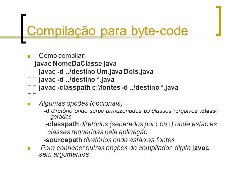 Compilação para byte-code
