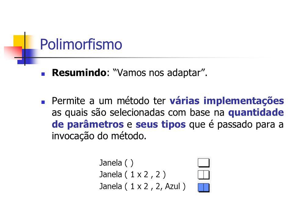 Polimorfismo Resumindo: Vamos nos adaptar .