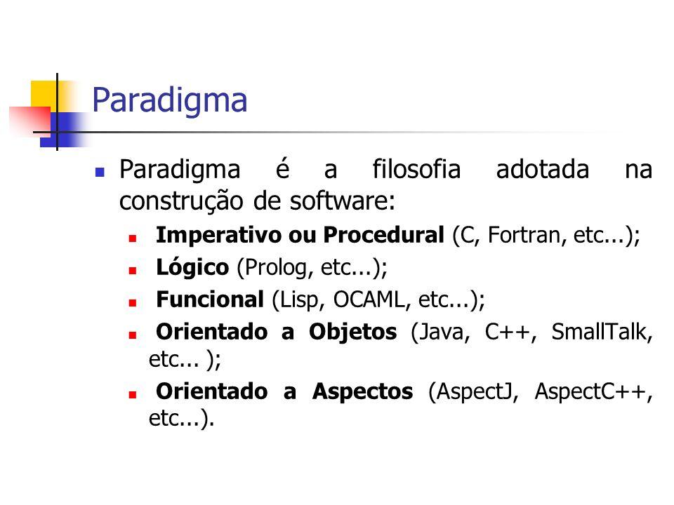Paradigma Paradigma é a filosofia adotada na construção de software: