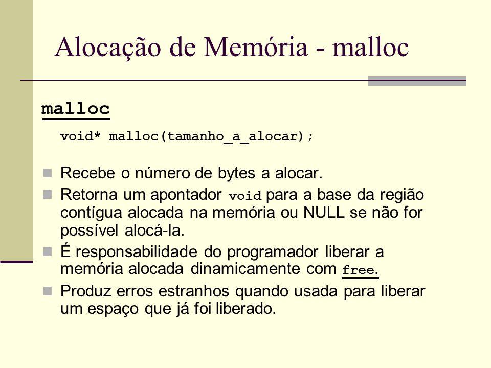 Alocação de Memória - malloc