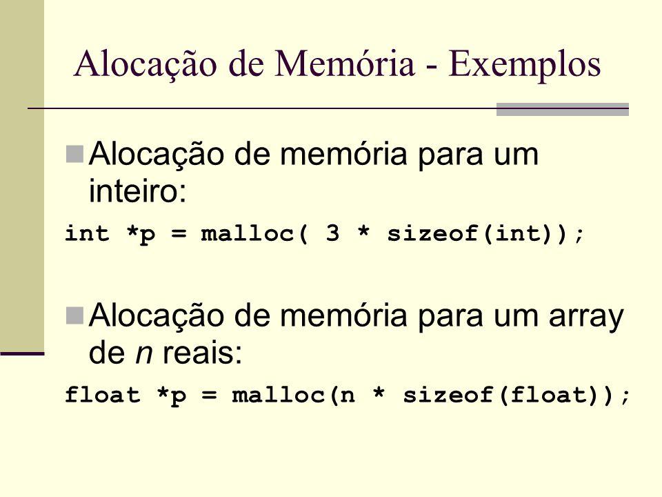 Alocação de Memória - Exemplos