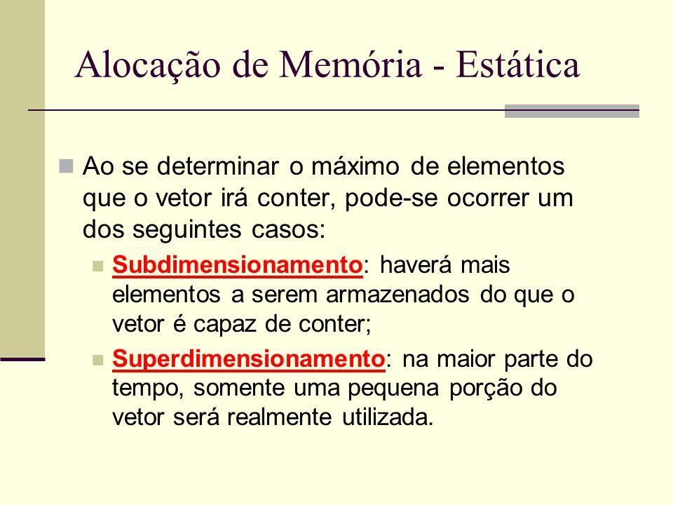 Alocação de Memória - Estática