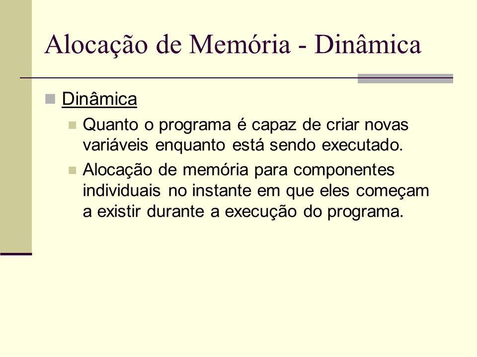 Alocação de Memória - Dinâmica