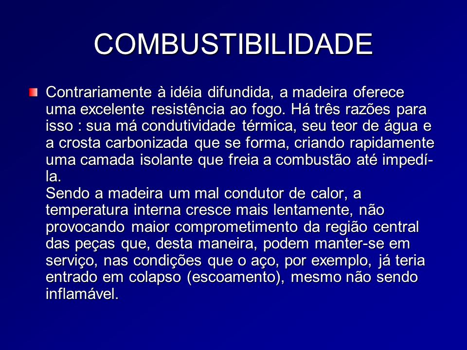 COMBUSTIBILIDADE