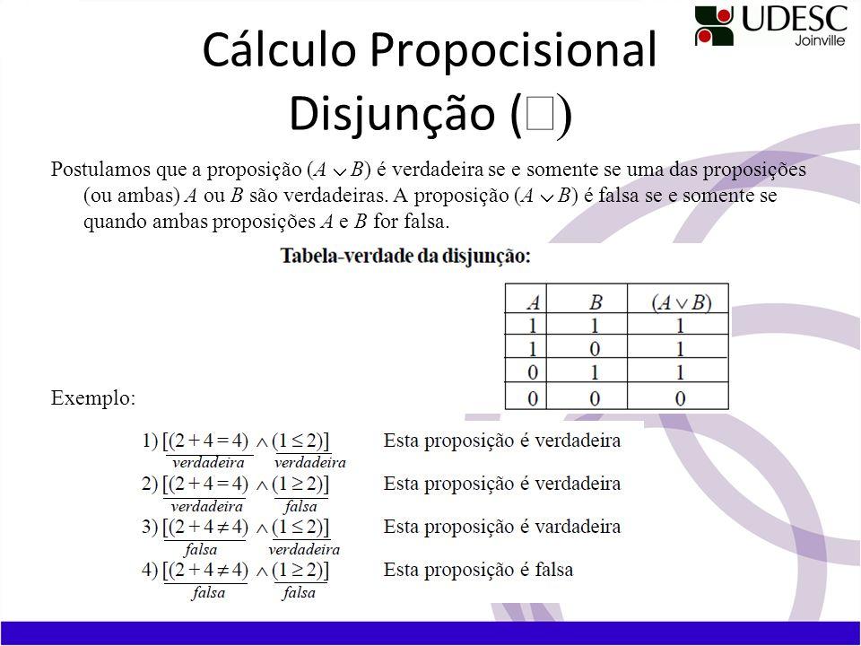 Cálculo Propocisional Disjunção (Ú)