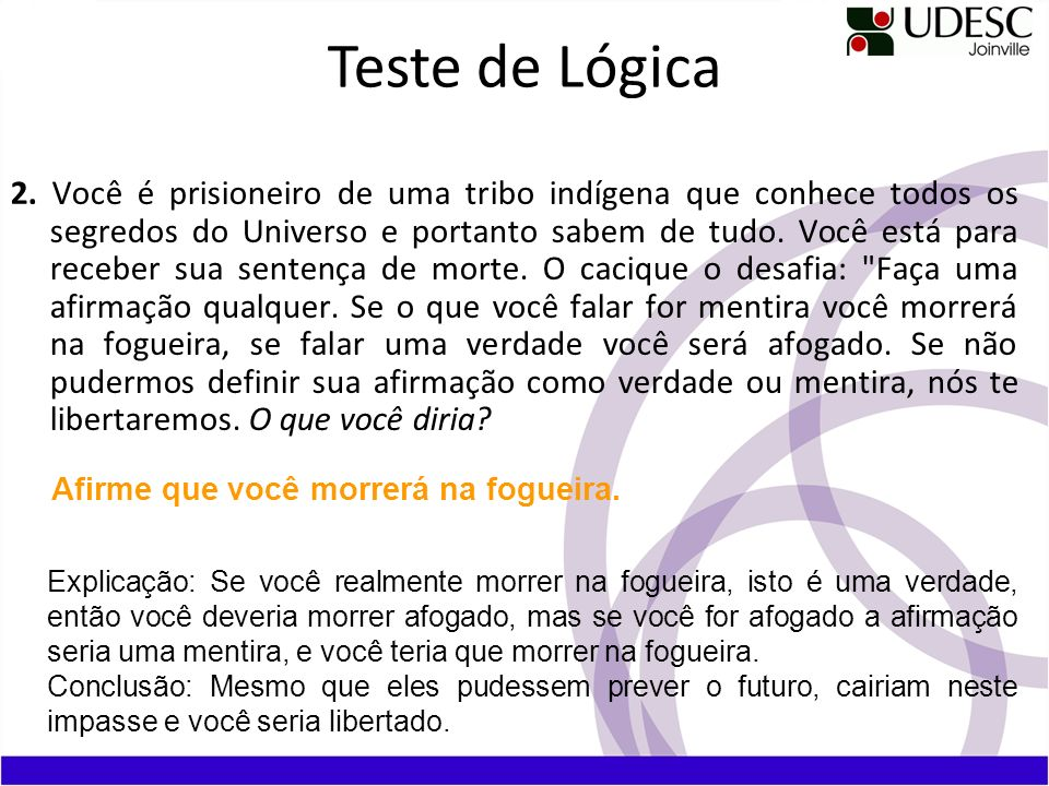 Teste de Lógica