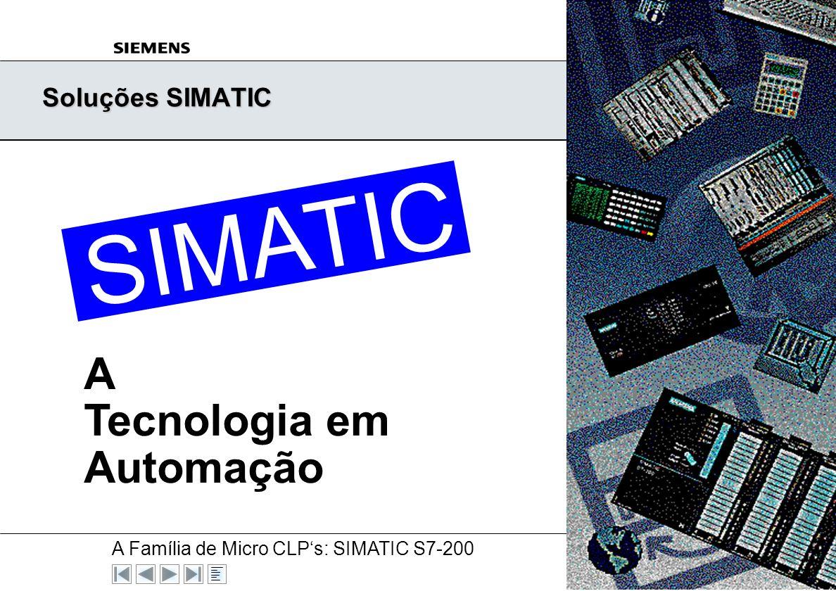 Soluções SIMATIC TIC A Tecnologia em Automação TIC SIMA SIMA