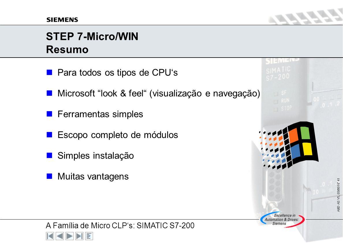 STEP 7-Micro/WIN Resumo