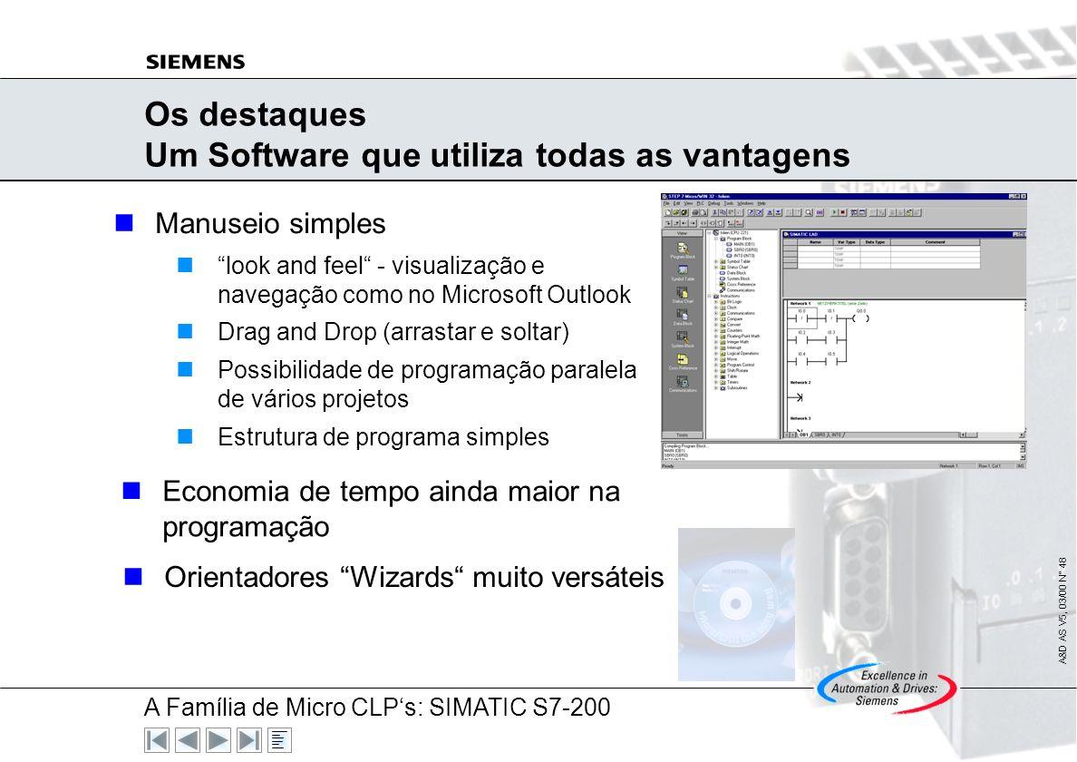 Os destaques Um Software que utiliza todas as vantagens