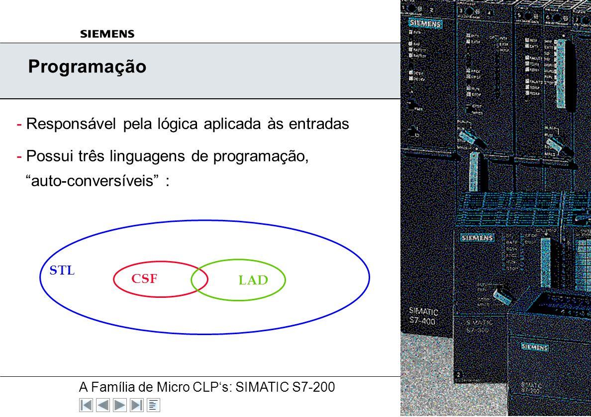 Programação - Responsável pela lógica aplicada às entradas