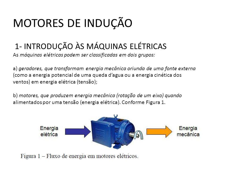 MOTORES DE INDUÇÃO 1- INTRODUÇÃO ÀS MÁQUINAS ELÉTRICAS