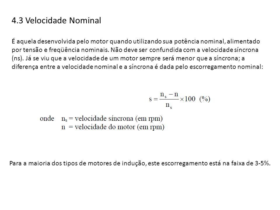 4.3 Velocidade Nominal