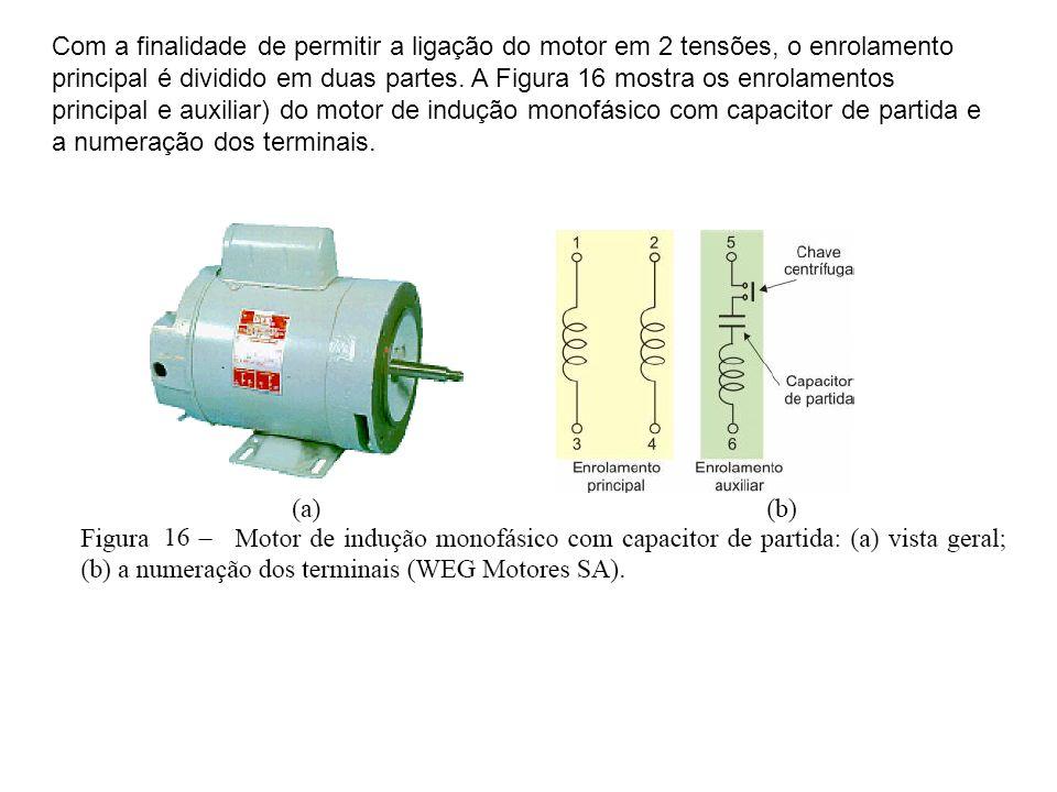 Com a finalidade de permitir a ligação do motor em 2 tensões, o enrolamento