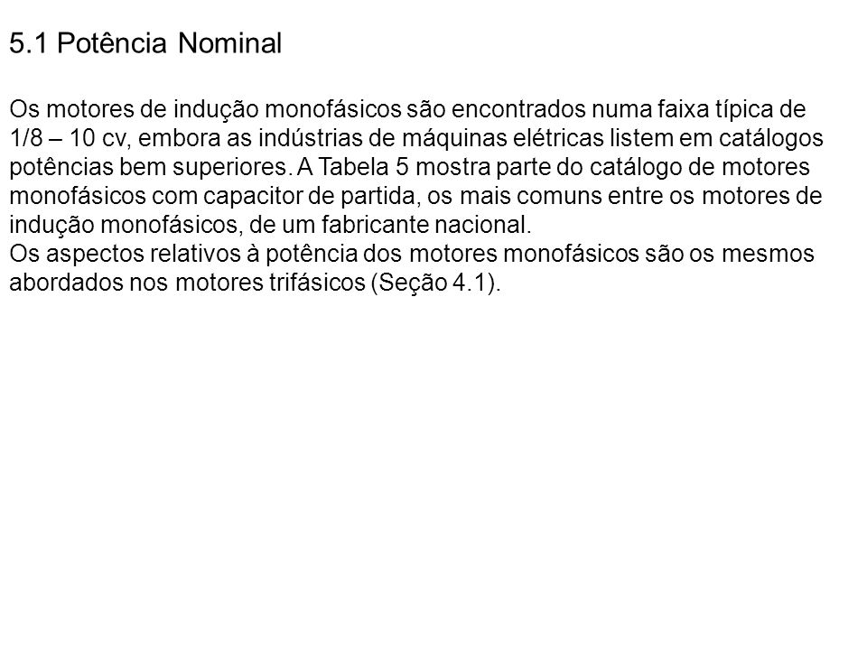 5.1 Potência Nominal