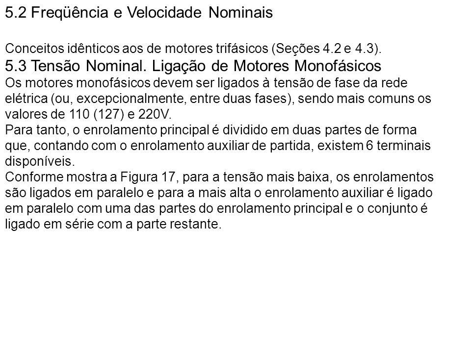 5.2 Freqüência e Velocidade Nominais