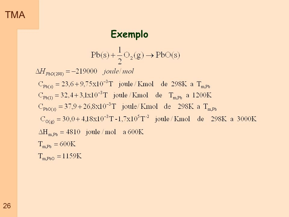 TMA 26 Exemplo