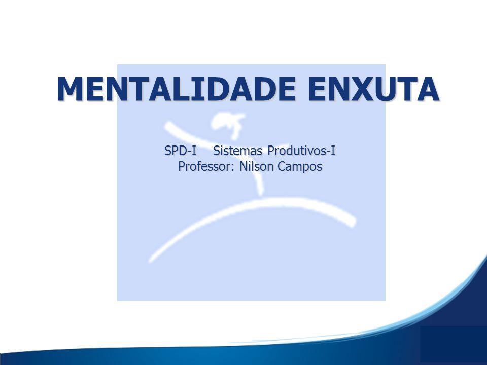 SPD-I Sistemas Produtivos-I Professor: Nilson Campos