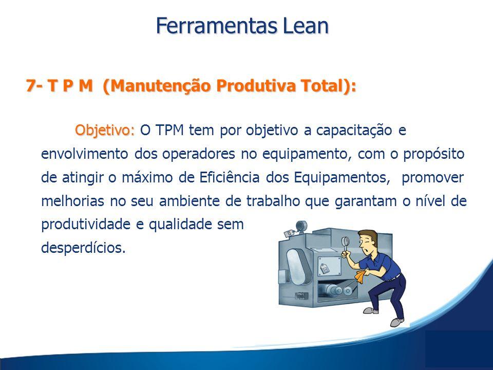 Ferramentas Lean 7- T P M (Manutenção Produtiva Total):