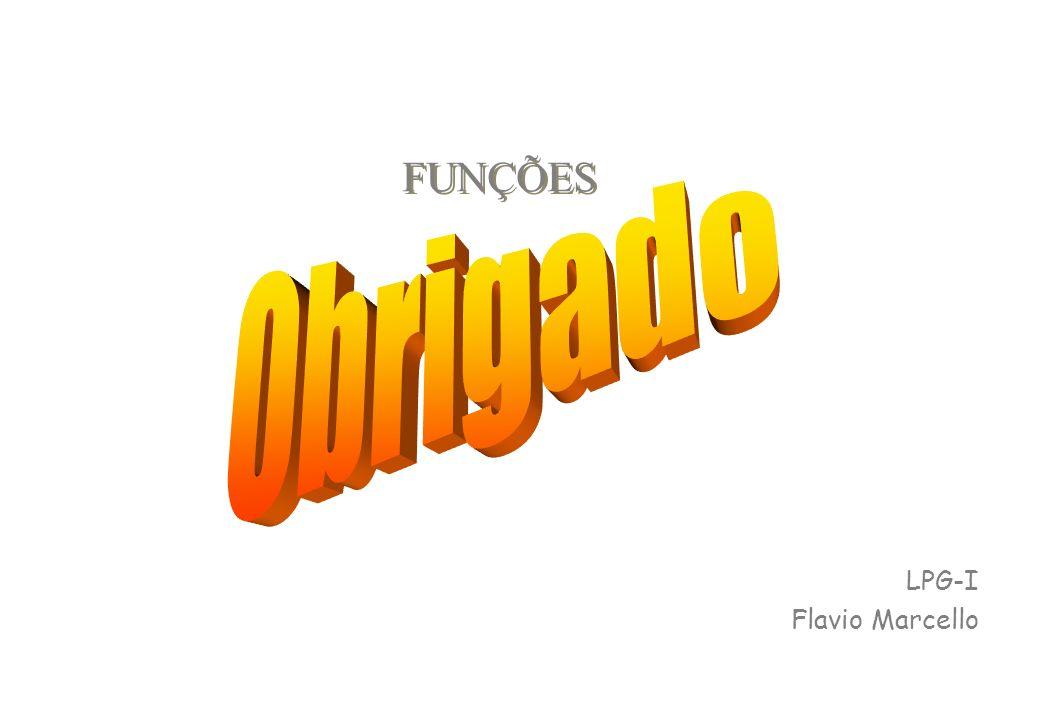 FUNÇÕES Obrigado LPG-I Flavio Marcello