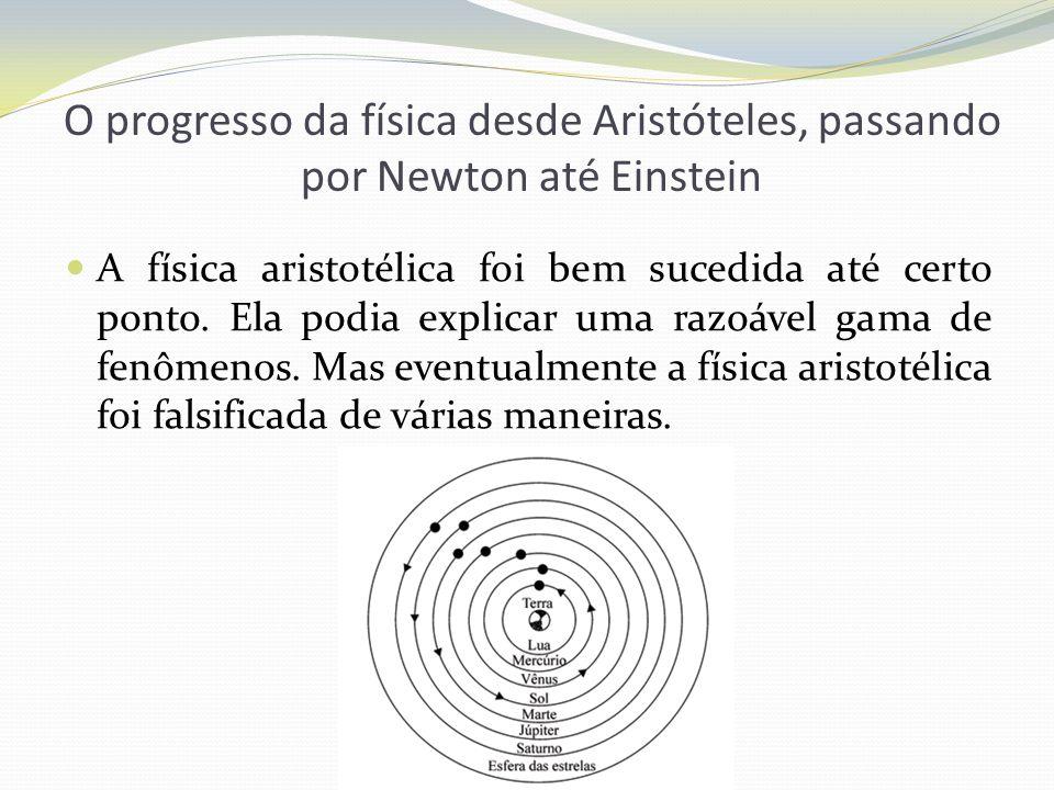O progresso da física desde Aristóteles, passando por Newton até Einstein