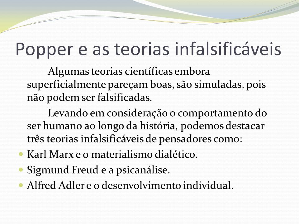 Popper e as teorias infalsificáveis