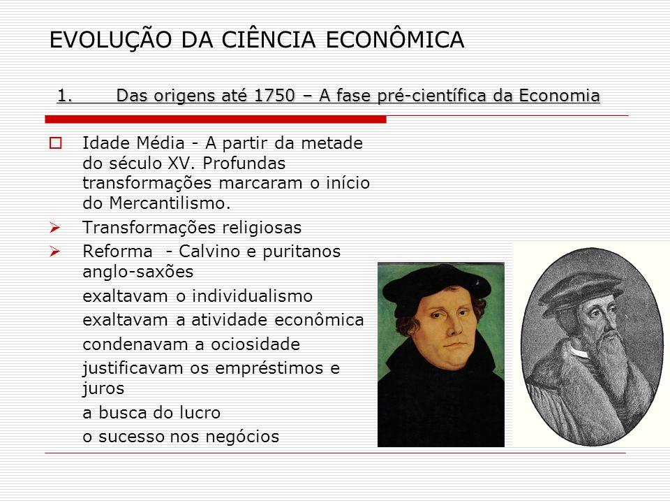 EVOLUÇÃO DA CIÊNCIA ECONÔMICA 1