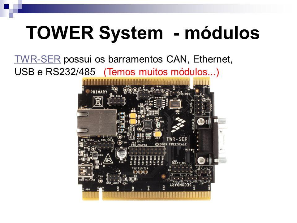 TWR-SER possui os barramentos CAN, Ethernet,
