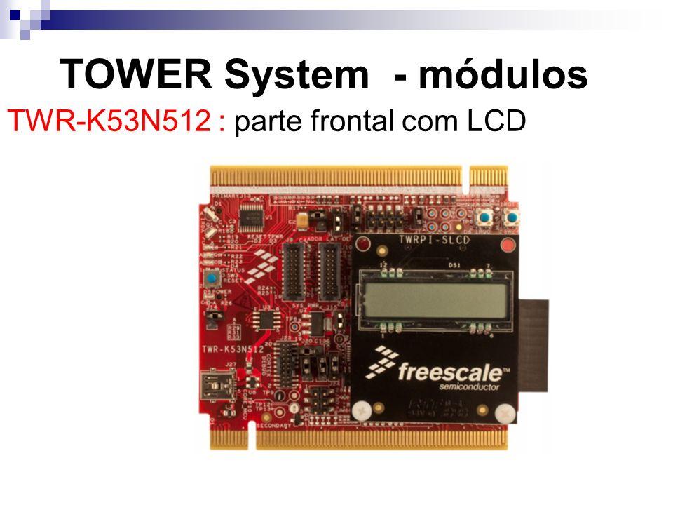TWR-K53N512 : parte frontal com LCD