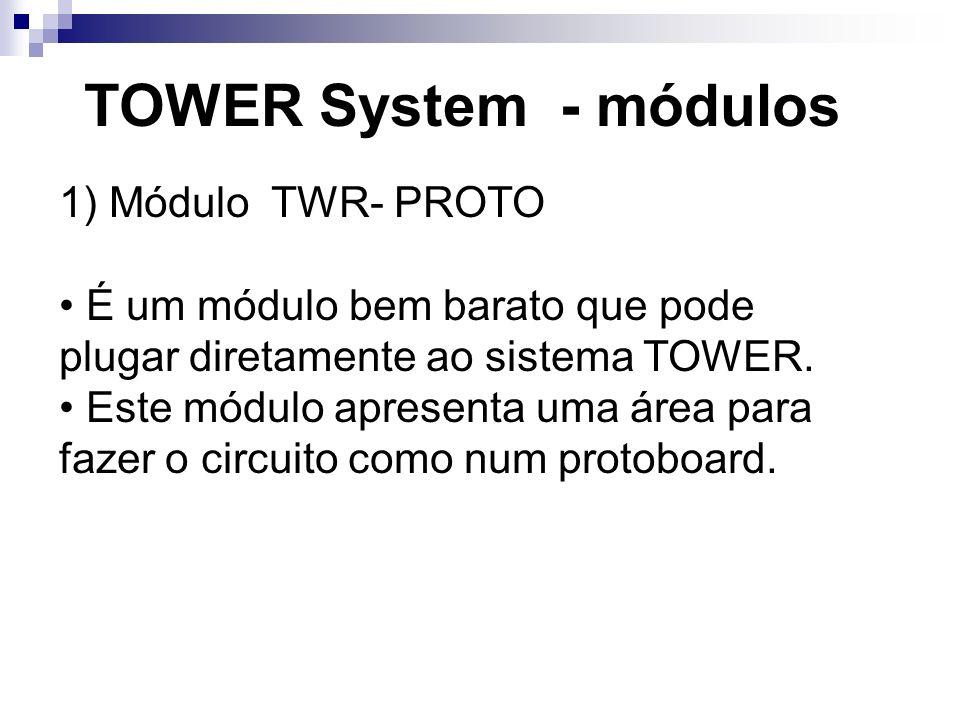 É um módulo bem barato que pode plugar diretamente ao sistema TOWER.