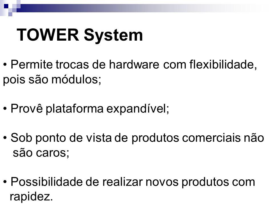 TOWER System• Permite trocas de hardware com flexibilidade, pois são módulos; • Provê plataforma expandível;