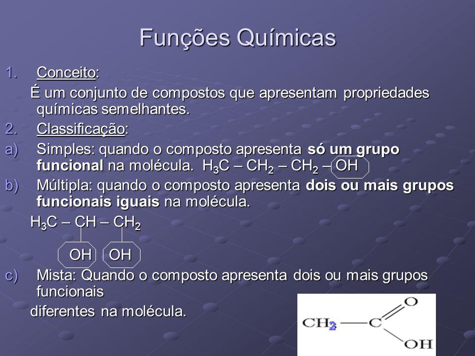 Funções Químicas Conceito: