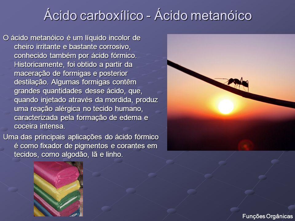 Ácido carboxílico - Ácido metanóico